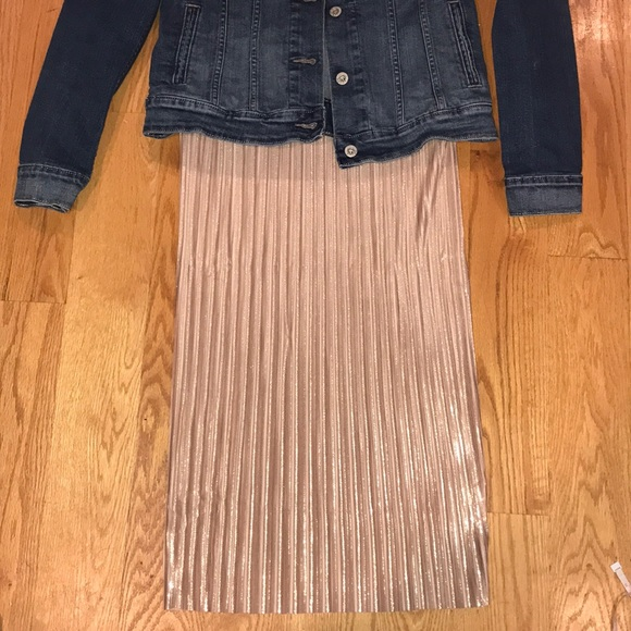 c1e36a3411 H&M Skirts | Nwt Rose Gold Pleated Skirt | Poshmark